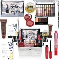 Maleta Kit Maquiagem Profissional Ruby Rose Marcas Glow Pink -