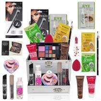 Maleta Kit Profissional Maquiagem Base Ruby Rose - Glow Pink