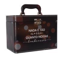 Maleta Lembranças - 6 álbuns fotográficos - 600 fotos 10x15 - Preto Adulto Viagens - Pirlim Foto