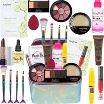 Maleta Maquiagem Com Kit Maquiagem Top Ruby Rose - Glow Pink