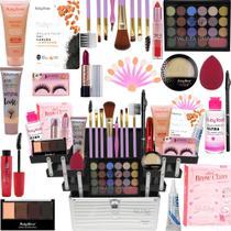 Maleta Maquiagem Com Kit Maquiagem Top Ruby Rose Liquidação - Glow Pink