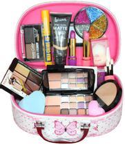 Maleta Maquiagem Com Kit Maquiagem Top Ruby Rose Liquidação - Profissional
