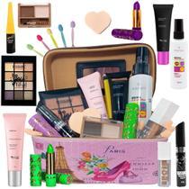 Maleta Maquiagem Com Kit Maquiagem Top Ruby Rose Liquidação -