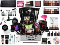 Maleta Maquiagem Completa Ruby Rose Kit Pinceis Macrilan -