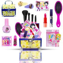 Maleta Maquiagem Infantil completa + Batons BZ101 - Bazar Na Web
