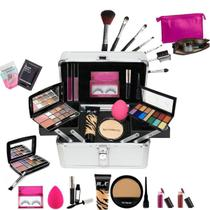 Maleta Maquiagem Pincel Macrilan Base Ruby Rose + Necessaire - Bazar Na Web