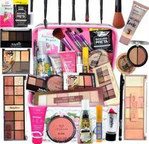 Maleta Maquiagem Top Profissional Completa Ruby Rose Brinde - Original