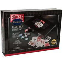 Maleta Master Poker Set Bicycle 300 Fichas 8 Gr + Par Baralhos Bicycle Standard