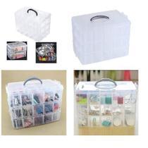 Maleta organizador caixa organizadora 30 divisorias box pesca costura estojo ferramentas medicamentos modular - Makeda