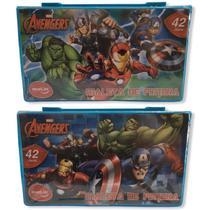 Maleta P Colorir Pintura Infantil Escolar Marvel Avengers 42 Peças - Molin