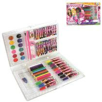 Maleta P/ Pintura Escolar 68 Peças Glam Girls - REF: WE 3902 Wellmix -