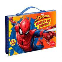 Maleta Para Colorir Pintura Infantil Escolar Marvel Spiderman Homem Aranha 72 Peças - Molin