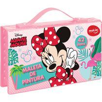Maleta para Pintura Licenciada Minnie Plastica 42 ITENS Sortida - Molin