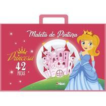 Maleta para pintura princesa completa 42 pecas unidade - Ciranda