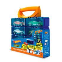 Maleta Porta Carrinhos Modular Hot Wheels p/ 8 miniaturas - Fun -