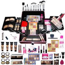 Maleta Profissional de Maquiagem Ruby Rose 4 Bases + Cortesias - Bazar Na Web