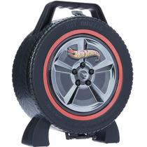 Maleta Roda Hot Wheels Radical Com 36 Lugares Garagens Fun -
