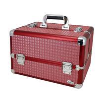Maleta Rubys Maquiagem Profissional 1181X Vermelha -