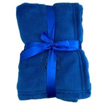 Malloo cobertor microfibra - azul royal - un -