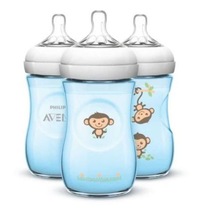 Mamadeira Avent Pétala 260ml Pack C/3 Macaco - Philips-avent