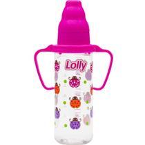 Mamadeira com Alca Zoo Rosa 240ml 1 UN Lolly -