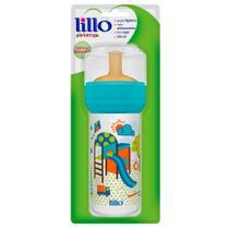 Mamadeira de Latex Super Divertida Azul 260ml - Lillo -