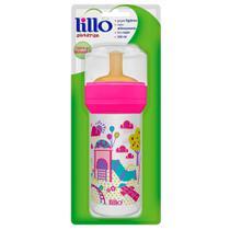 Mamadeira de Latex Super Divertida Rosa 260ml - Lillo -