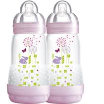 Mamadeira Easy Start - Firt Bottle 260ml Girl - Pack Com 2 - MAM