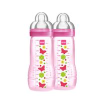Mamadeira Fashion Bottle - Girl - 330ml - Double Pack - Flores - MAM