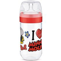Mamadeira Transparente - 300Ml - Super Evolution - Disney - Minnie Mouse - Lillo -