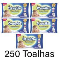 mamypoko Toalhas umedecidas ideal para higiene diária do seu bebê toque suave kit 5x 50 unidades - Daviso