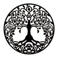 Mandala Árvore da Vida 60x60cm em Madeira Mdf Aplique Parede - Império Das Artes