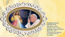 Mandala de porta moldada oval joão paulo ii e jesus misericordioso - Armazem