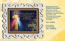 Mandala de porta moldada retangular jesus misericordioso - Armazem