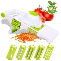 Mandoline fatiador de alimentos multi-uso com 5 laminas - Box7