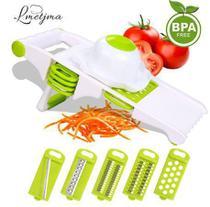 Mandoline Fatiador de Alimentos multi-uso com 5 laminas diferentes cortes - Chopper