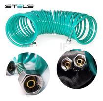Mangueira Espiral 10 Metros C/ Engate ¼ Npt 18 Bar Stels -