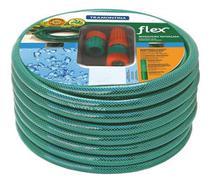 Mangueira Flex Tramontina Verde em PVC 3 Camadas 30 m com Engates Rosqueados e Esguicho -