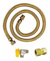 Mangueira Flexível De Cobre Para Gás 1,20m Fogão + Adaptador - Haenke