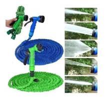 Mangueira Mágica de Jardim 37 metros Água Retrátil Multiuso Azul Verde -