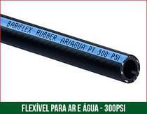 Mangueira rubber ar/agua 300 psi preta 1/2 20 m - RW BORRACHAS