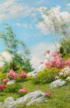 Manhã de Maio (1908) - Charles Curran - 60x91 - Tela Canvas Para Quadro - Santhatela