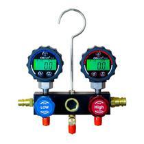 Manifold Digital Programável Display em LCD Indicação Temperatura Elitech -