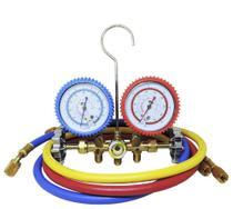 Manifold gas r12 r22 r134 r404 com mangueira 90cm - Vulkan