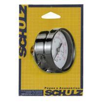 """Manometro Horizontal 1/4"""" NPT - Schulz"""