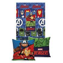 Manta Almofada Marvel Avengers 45x45 150x200 - Jolitex -