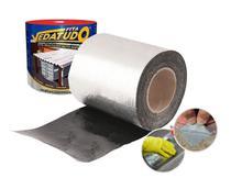 Manta asfaltica adesiva aluminizada Impermeabilizante Para Telhados, chapas, Baús  30cm X 10m - Dryko