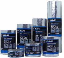 Manta Asfáltica Auto-adesiva 90cm x 10m x 1mm ALU/FLEX Natural  AF90 NBR 16411 - Primer Impermeabilizantes