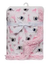 Manta Bebê em Soft Elefantinhos Rosa Buba - Buba toys