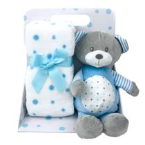 Manta Bebê Menino Baby Carinhosos Ursinho Estrelas Azul - HABITAT